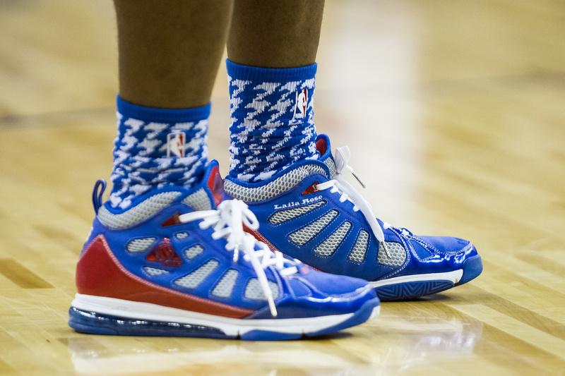 Plenty of players sporting customised footwear